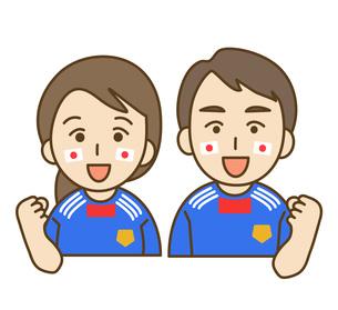 サッカーの応援の写真素材 [FYI00076044]