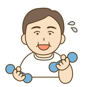 運動する男性の素材 [FYI00076054]