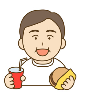 食べる男性の素材 [FYI00076064]