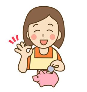 貯金する主婦の写真素材 [FYI00076070]