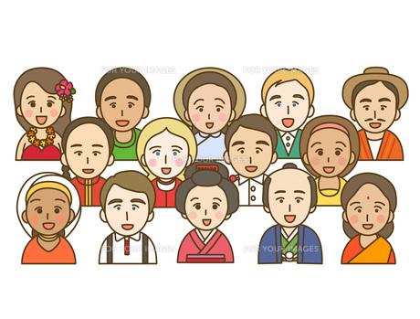 色々な民族の写真素材 [FYI00076085]
