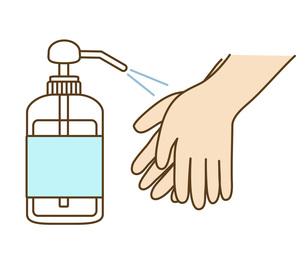 手の消毒の写真素材 [FYI00076130]