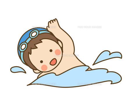 泳ぐ子供の写真素材 [FYI00076166]