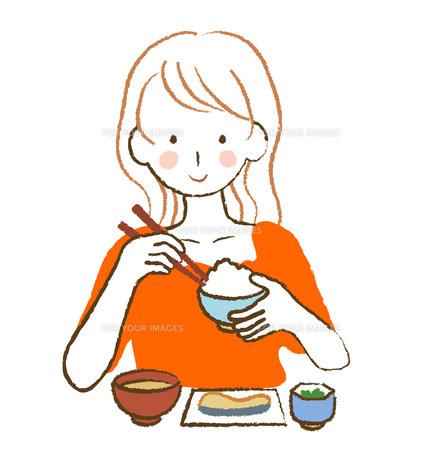 食事をする女性の写真素材 [FYI00076211]