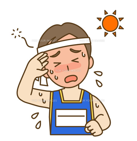 熱中症の写真素材 [FYI00076221]