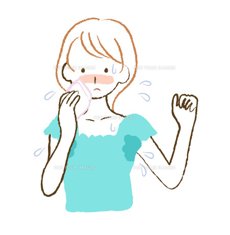 汗かきの女性の素材 [FYI00076224]