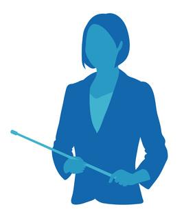 指示棒を持つ女性の写真素材 [FYI00076247]