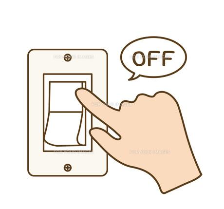 スイッチを切る手の写真素材 [FYI00076257]