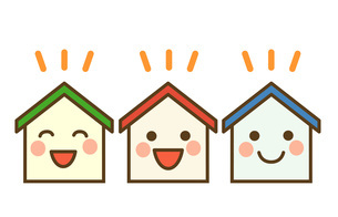 笑顔の家の素材 [FYI00076339]