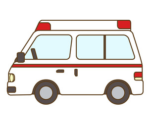 救急車の写真素材 [FYI00076390]
