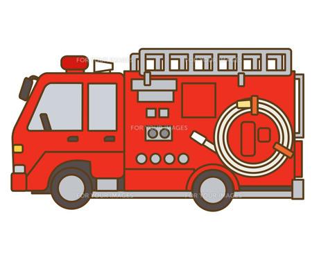 消防車の素材 [FYI00076399]