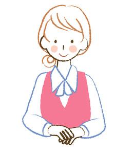 制服の女性社員の素材 [FYI00076400]