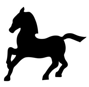 馬のシルエットの素材 [FYI00076423]