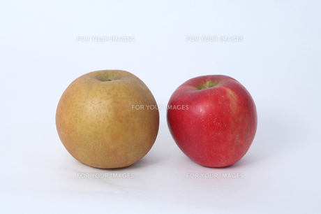 ナシとリンゴの写真素材 [FYI00076483]