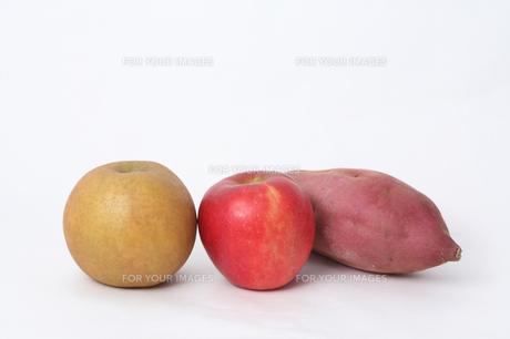 ナシリンゴサツマイモの写真素材 [FYI00076488]