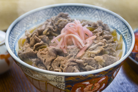 牛丼の写真素材 [FYI00076651]