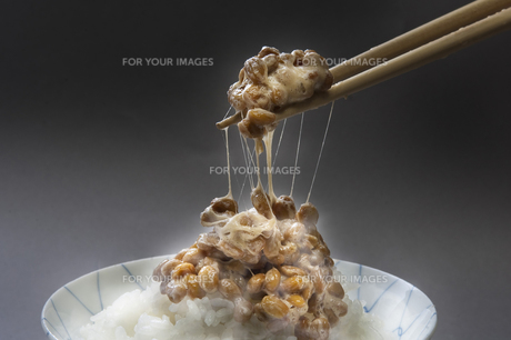 納豆ご飯の写真素材 [FYI00076691]