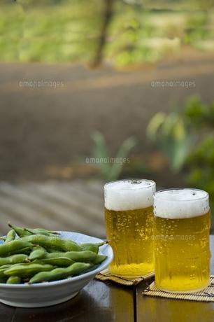 枝豆とビールの写真素材 [FYI00076816]