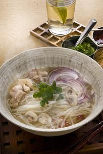 タイ風ライスヌードル鶏肉入りの写真素材 [FYI00077081]