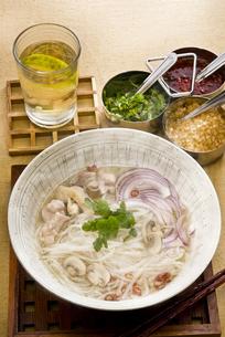 タイ風ライスヌードル鶏肉入りの写真素材 [FYI00077102]
