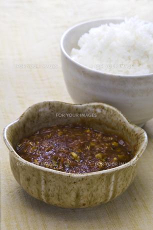 蕗味噌とご飯の写真素材 [FYI00077220]