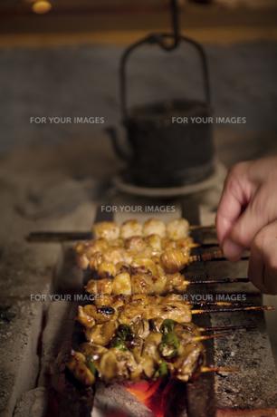 焼鳥の写真素材 [FYI00077399]
