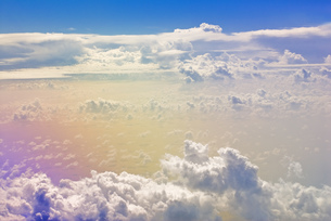機上よりの空の写真素材 [FYI00077748]