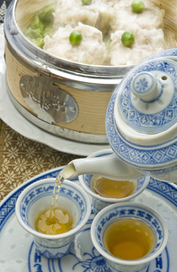 中国茶と焼売の写真素材 [FYI00077751]