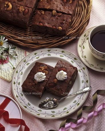 チョコレートのケーキの写真素材 [FYI00078147]