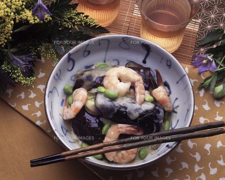エビとナスの味噌炒めの写真素材 [FYI00078166]