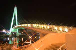 小港の夜景の写真素材 [FYI00080047]