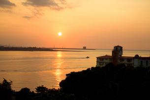 淡水の夕景の写真素材 [FYI00080055]