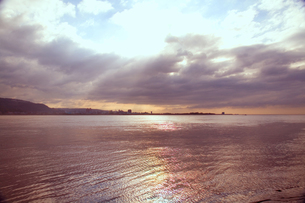 淡水の夕景の写真素材 [FYI00080061]