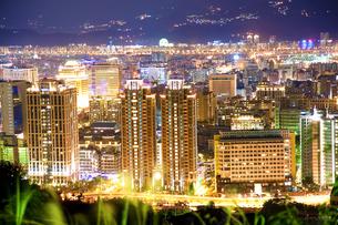 台北の夜景の写真素材 [FYI00080064]