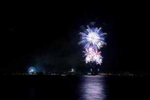 海の日名古屋みなと祭花火大会の写真素材 [FYI00080086]