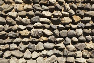 安芸の玉石練り塀の写真素材 [FYI00080212]