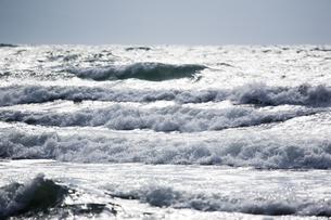 光る海と波頭の写真素材 [FYI00080232]