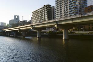 堂島川に架かる高架道路の写真素材 [FYI00080369]