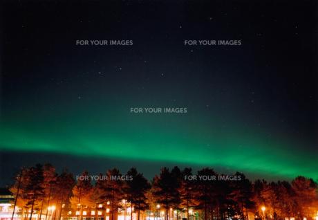 オーロラと北斗七星の写真素材 [FYI00081817]