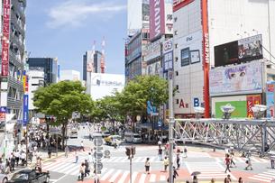 渋谷駅前、道玄坂下の写真素材 [FYI00082117]