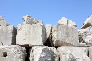 コンクリートブロックの写真素材 [FYI00082784]