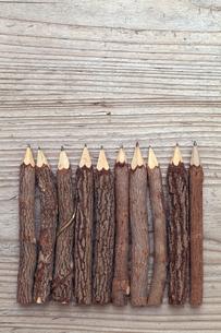 木の鉛筆の写真素材 [FYI00084260]