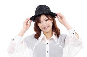 帽子と女の子の写真素材 [FYI00084372]