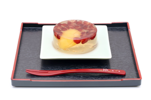 和菓子とフォークの写真素材 [FYI00084477]