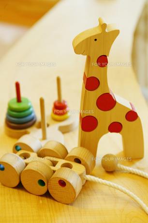 木のおもちゃの写真素材 [FYI00084924]