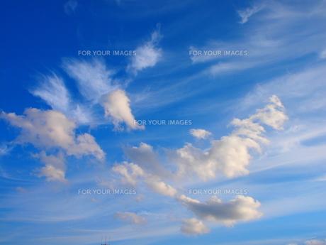 青い空と白い雲の素材 [FYI00085552]