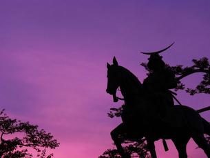 伊達政宗公 騎馬像の写真素材 [FYI00086005]