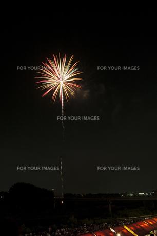 花火と屋台 5の写真素材 [FYI00086526]