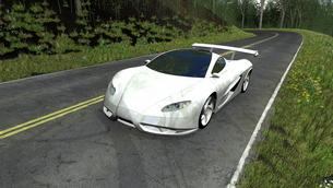 スポーツカーの素材 [FYI00086595]