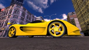スポーツカーの写真素材 [FYI00086610]